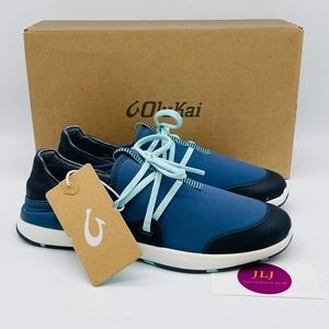 Olukai Women's Miki Li Shoe Trench Blue Size 7